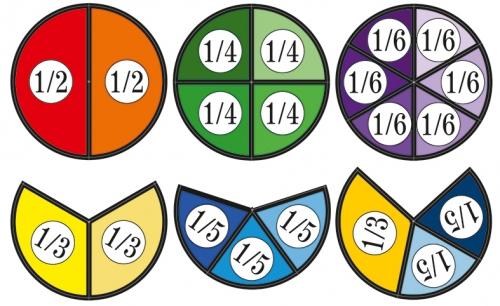 """Модель аппликация """"Части целого на круге"""" раздаточный набор из 15 шт"""