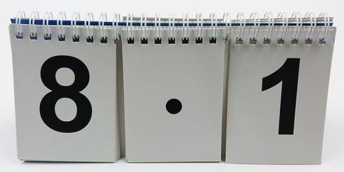 Перекидное табло для устного счета (ламинированное)