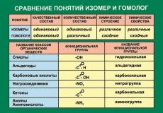 """Виниловая таблица """"Сравнение понятий изомер и гомолог"""" 100х140 см"""