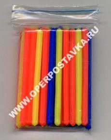 Счётные палочки, 40 штук 6-и гранных флуоресцентных палочек  в прозрачном пакете с защелкой
