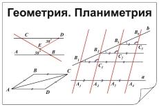 "Фолии ""Геометрия.Планиметрия"" (5 пленок)"