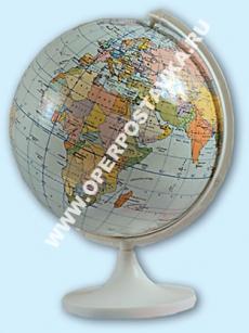 Глобус политический Земли М 1:83 млн. сув. Д-15,5 см