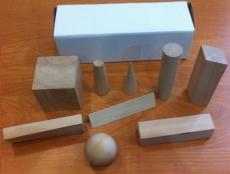 Набор геометрические тела деревянный (14 предметов)
