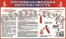 """Виниловая таблица """"Противопожарная безопасность"""" 100х140 см"""