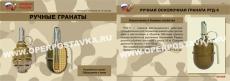 "Комплект плакатов ""Ручные  гранаты"" - 10 плакатов, формат 30х41 см"